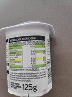 Yogur griego natural edulcorado - Nutrition facts