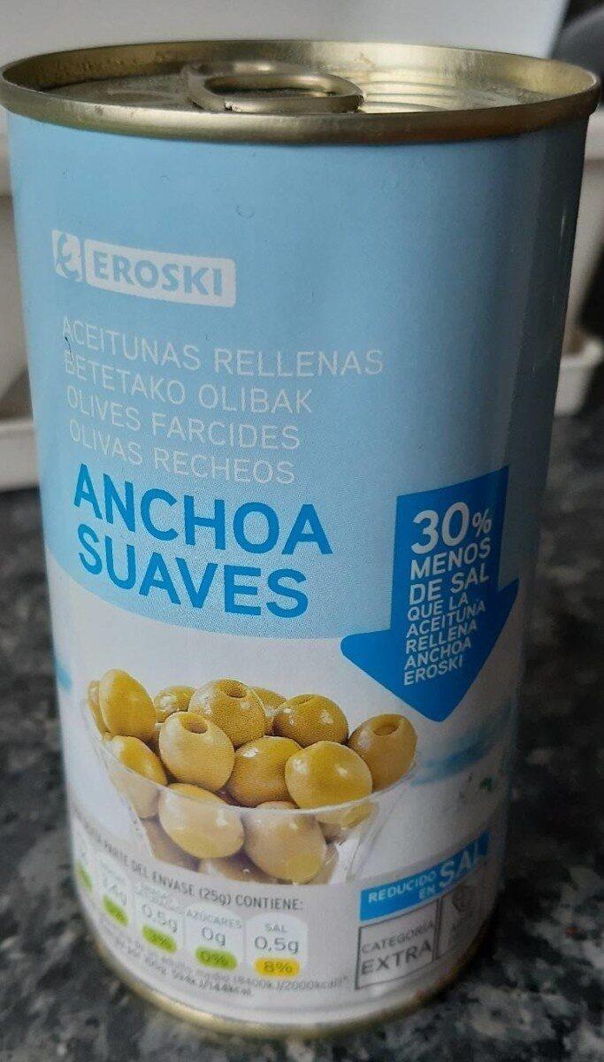 Aceitunas rellenas de anchoa suaves - Producte - es