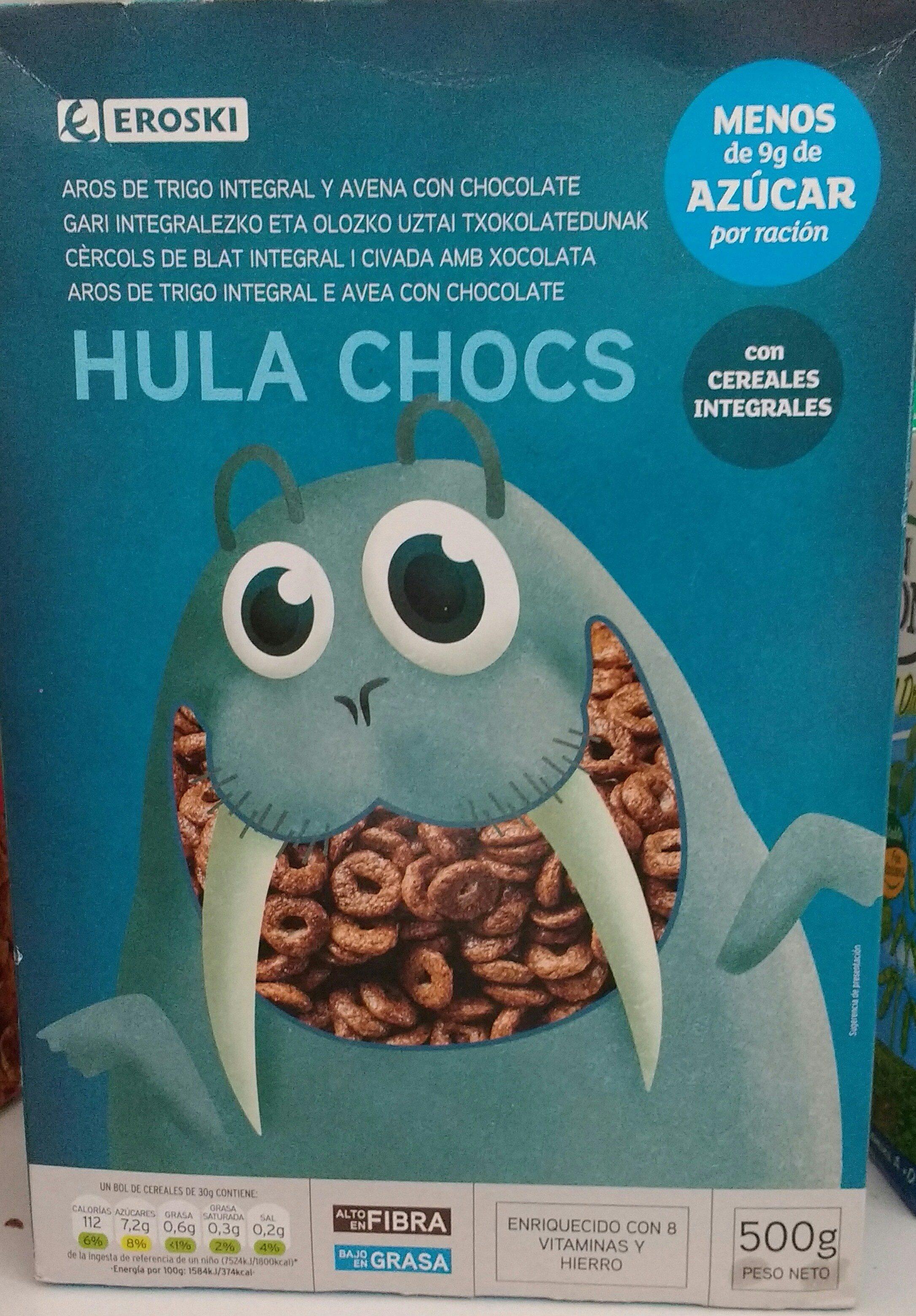 Hula chocs - Arroz de trigo y avena con chocolate - Produit
