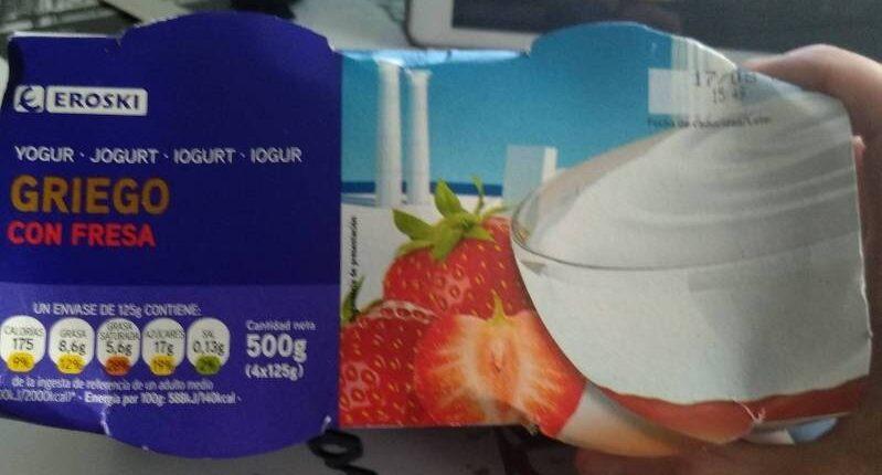 Yogur griego con fresa - Product