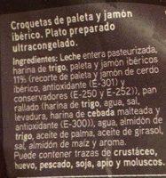 Croquetas jamón ibérico - Ingredientes