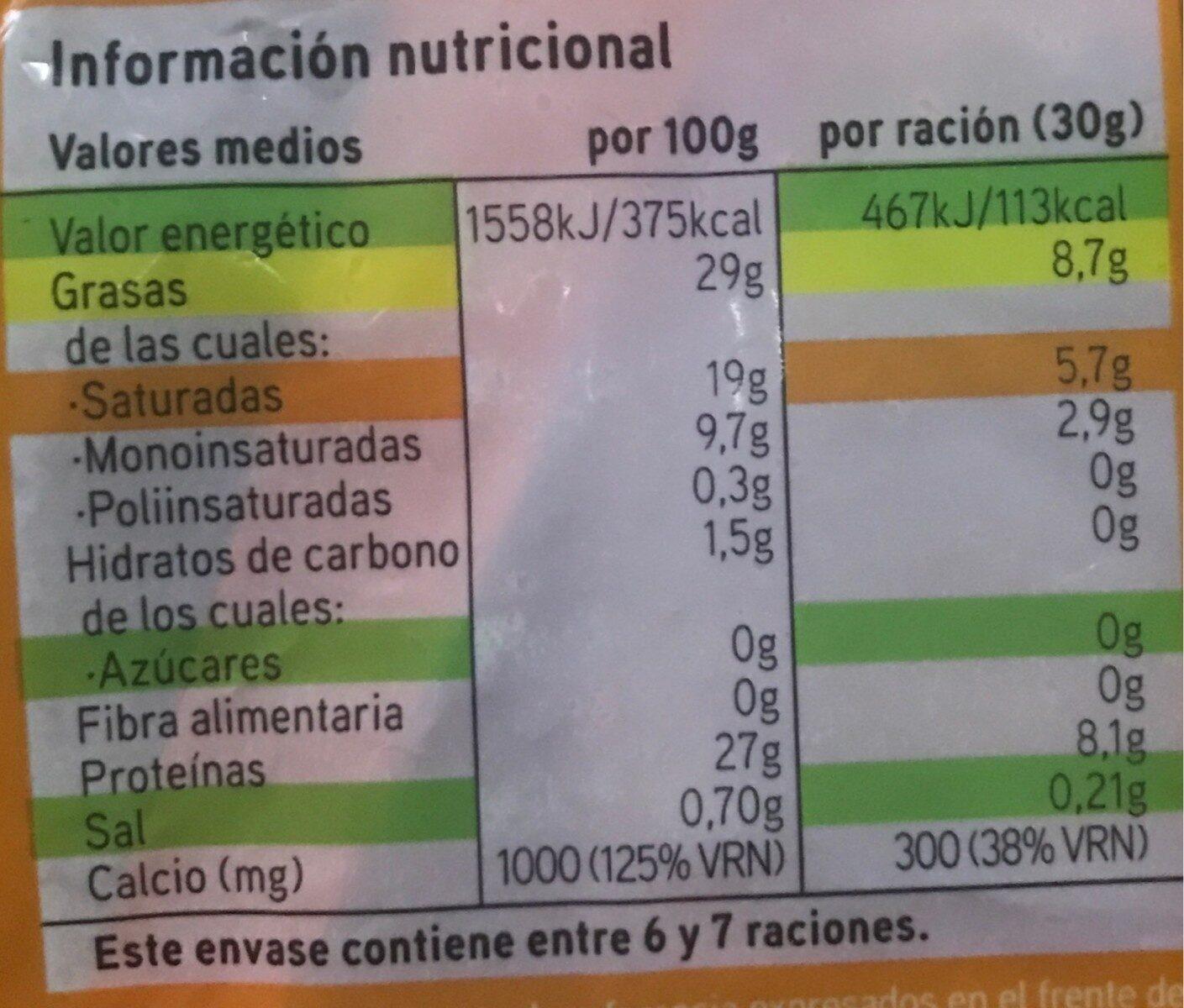 Emmental queso rallado - Voedingswaarden - es