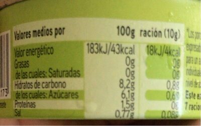 Alegrías riojanas - Informations nutritionnelles