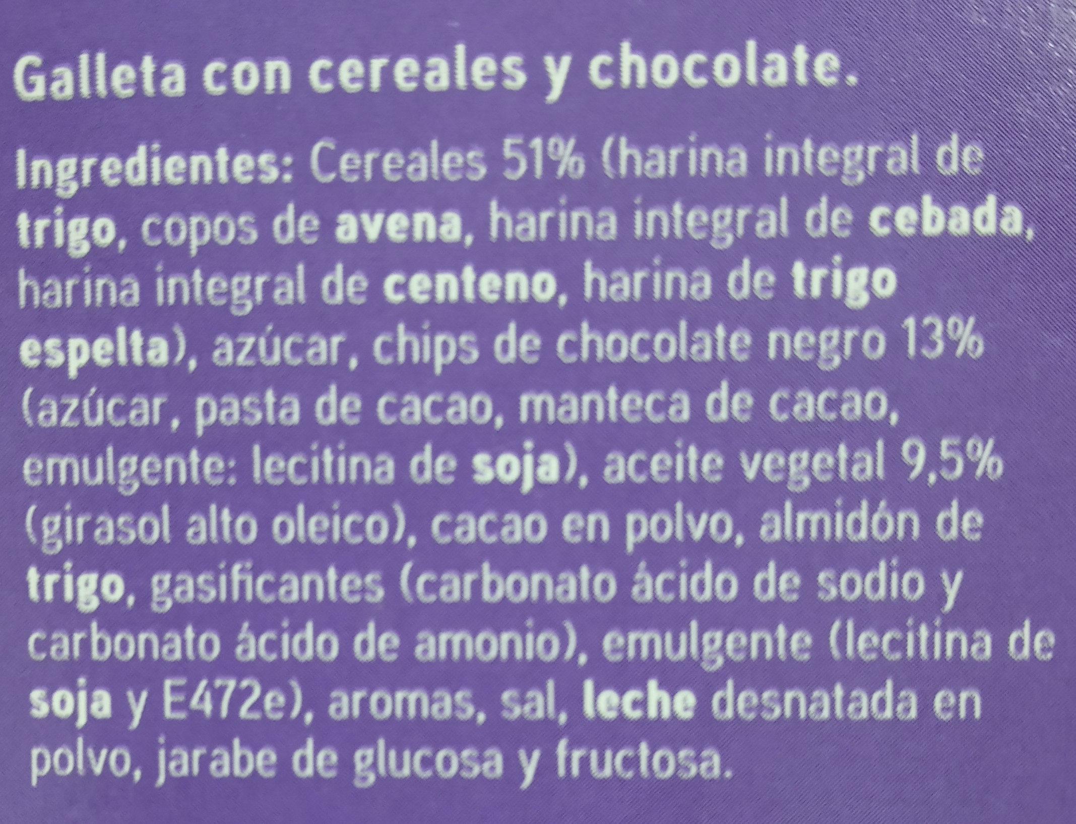 Galletas de Desayuno - Ingredients