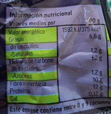 Avena en Copos - Información nutricional