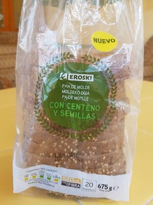 Pan de molde con centeno y semillas - Product