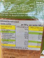 Pan de molde con centeno y semillas - Nutrition facts