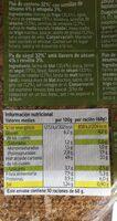 Pan de molde - Información nutricional - es