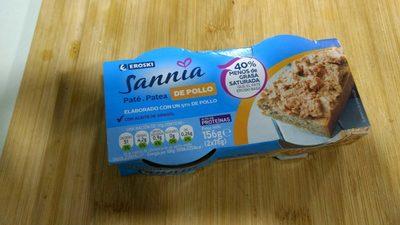 Pate de pollo Sannia - Producto