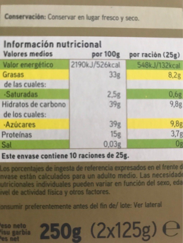 Turrón duro - Información nutricional - es