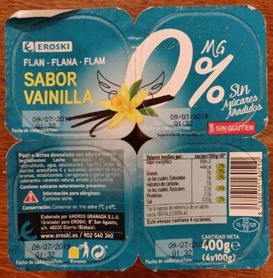 Flan sabor vainilla - Produit