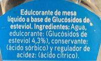 Stevia líquido - Ingrédients