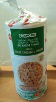 Tortitas de arroz y maiz sabor sour cream & onion - Producto