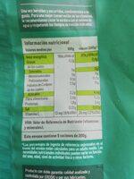 Judias planas - Nutrition facts