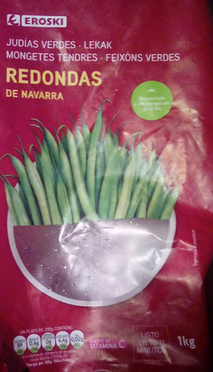 Judías verdes redondas de Navarra - Producto