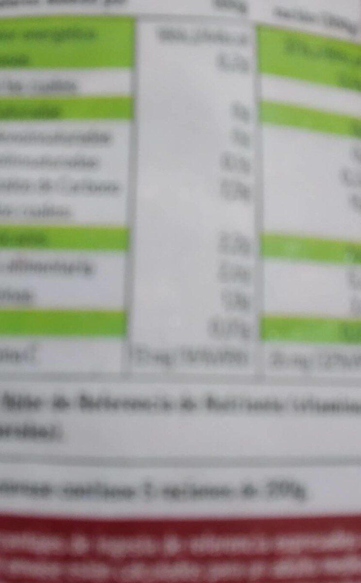 Judías verdes redondas de Navarra - Información nutricional