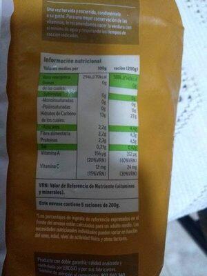Ensaladilla rusa del valle del Ebro - Informació nutricional
