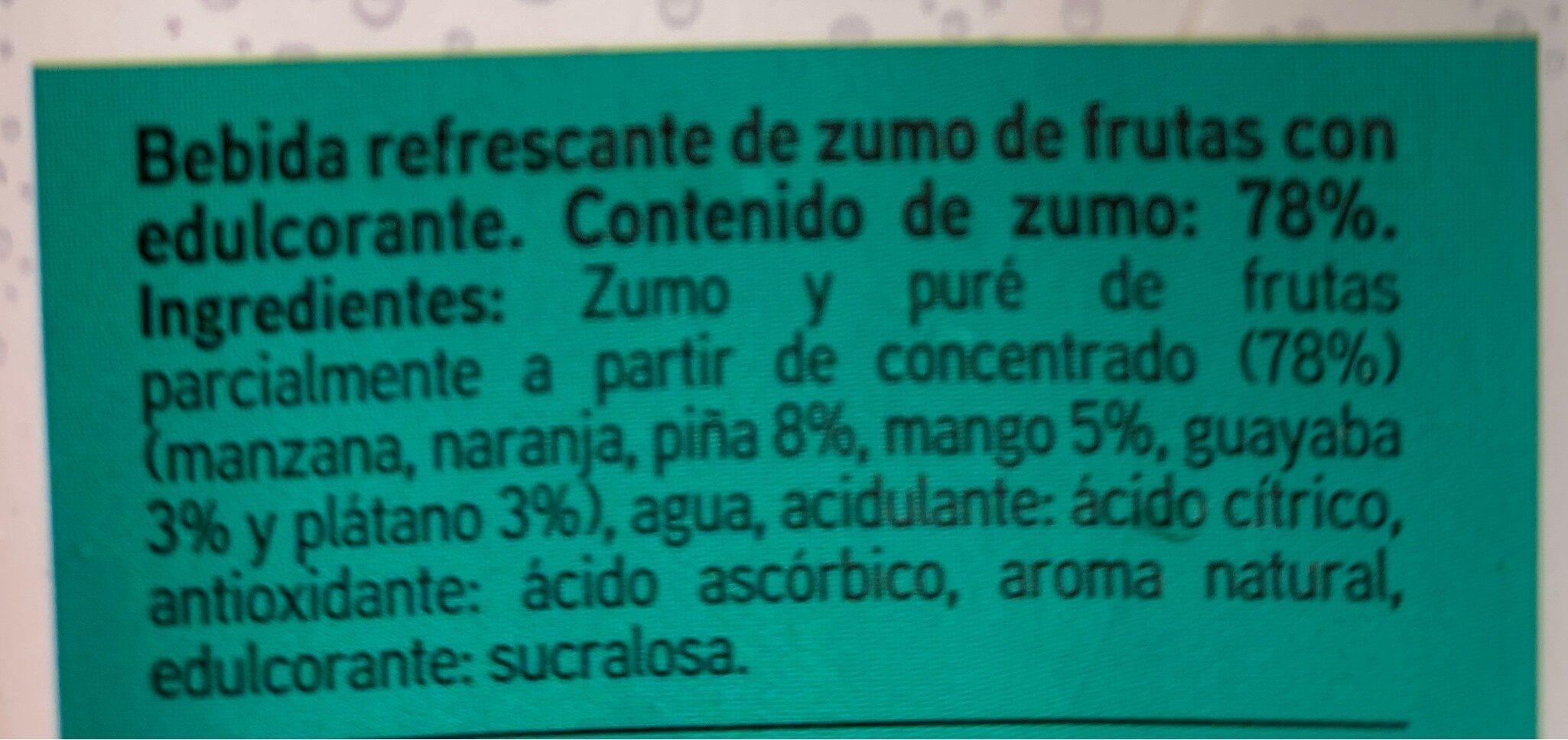 Bebida tropical - Ingrediënten - es