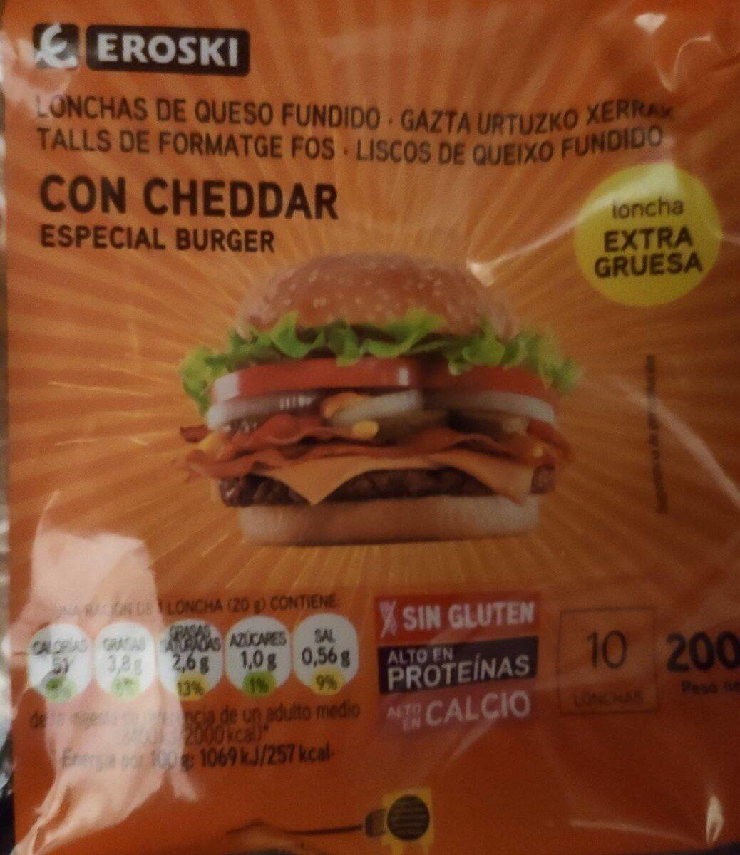 lonchas de queso cheddar - Product