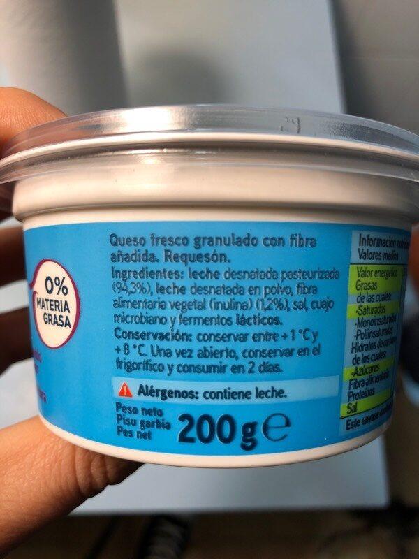 Sannia - Requesón - Ingredientes