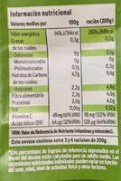 Coliflor azalorea de navarra - Informació nutricional