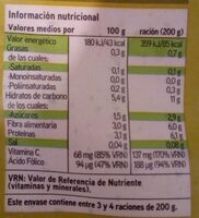 Brócoli de Navarra - Informations nutritionnelles - es