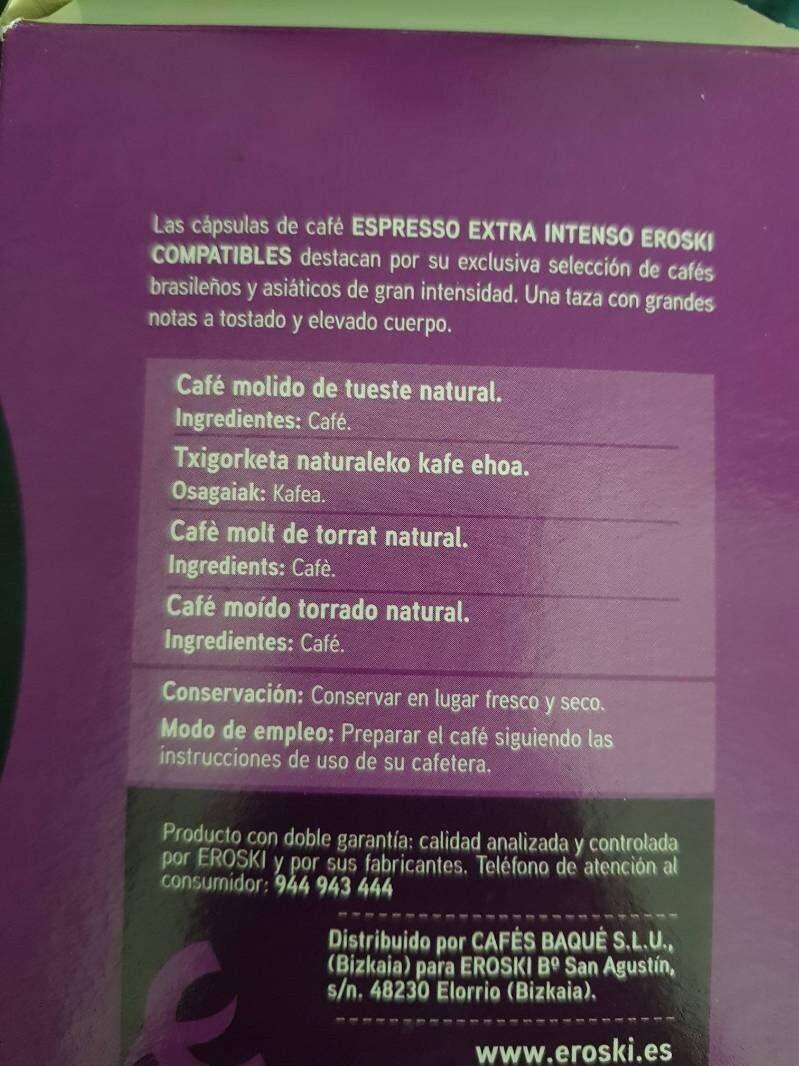 Espresso extra intenso - Ingrédients - es