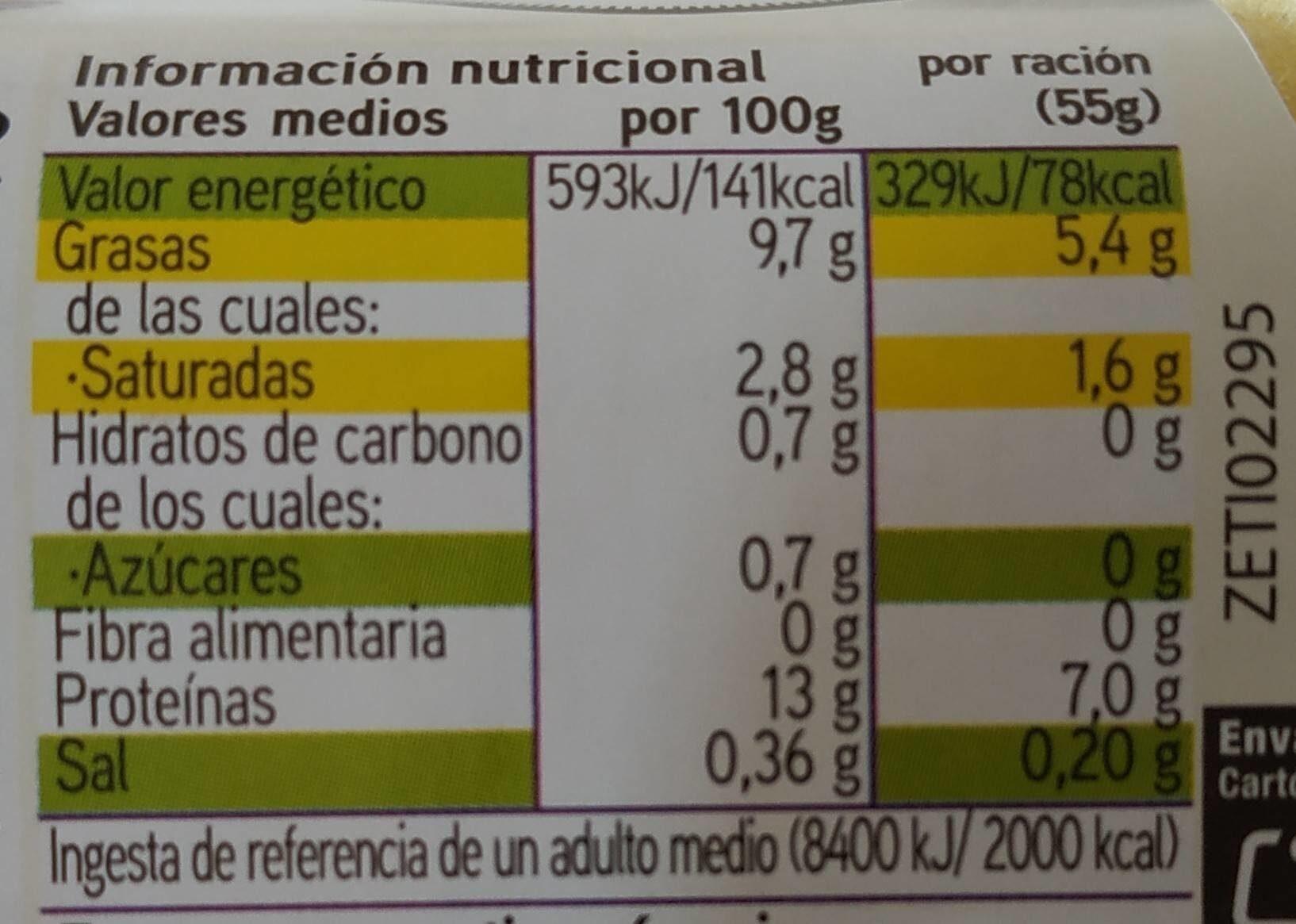 Huevos Eroski Natur - Voedingswaarden - es