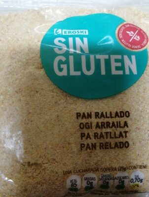 Pan rallado sin gluten
