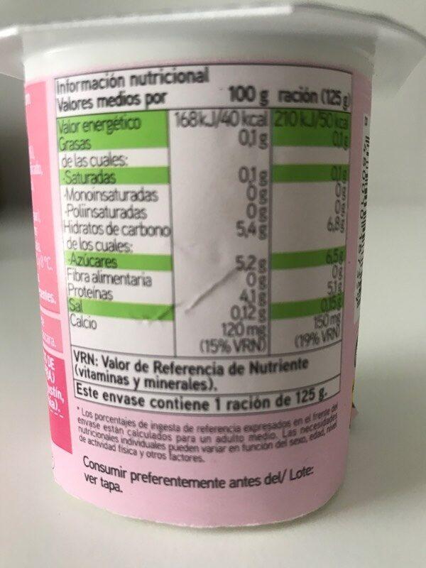 Biactive desnatado con pera - Nutrition facts - es