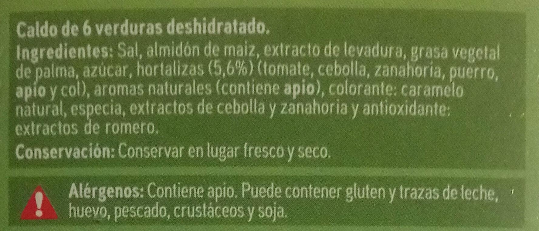 Caldo de verdura - Ingredientes - es
