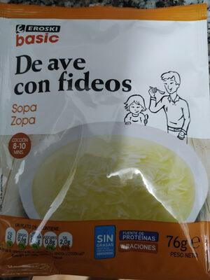 Sopa De Ave Con Fideos - Producto