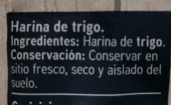 Harina de trigo fuerza - Ingredients - es