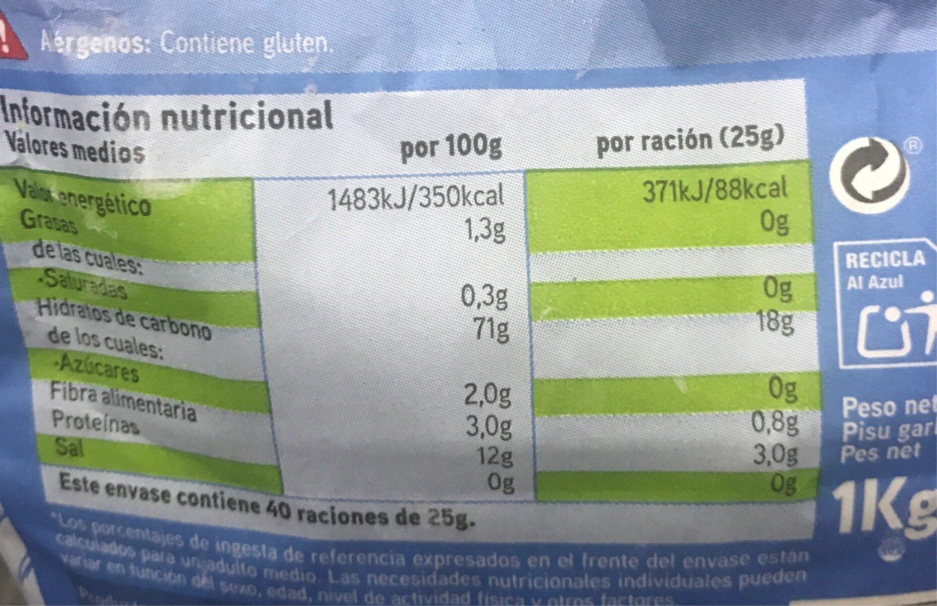Harina de trigo fuerza - Nutrition facts - es