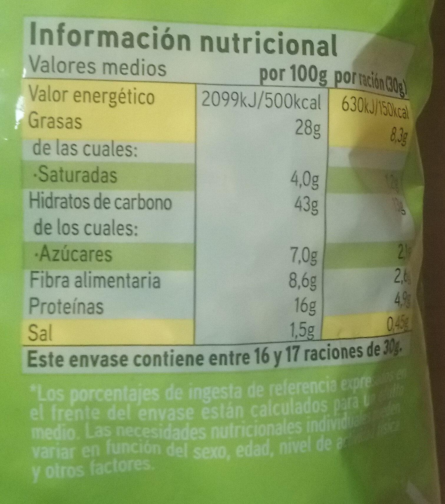 Mix original - Información nutricional - es