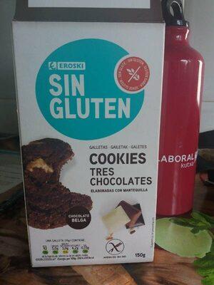Sin gluten - Cookies tres chocolates