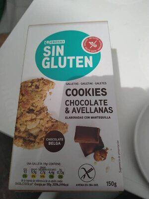 Cookies chocolate y avellanas sin gluten - Product