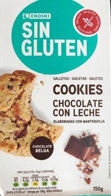 Sin gluten - Cookies de chocolate con leche - Producte - es