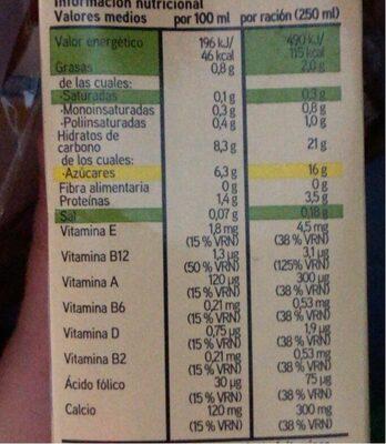 Bebida avena - Voedingswaarden - es