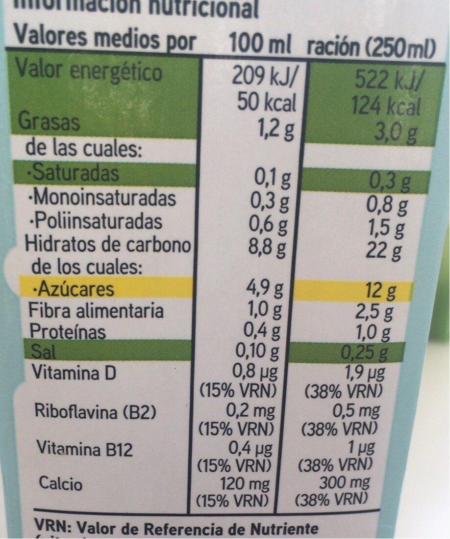 Leche de arroz con calcio - Información nutricional - es