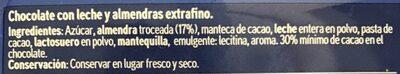 Chocolate con almendras - Ingrediënten - es