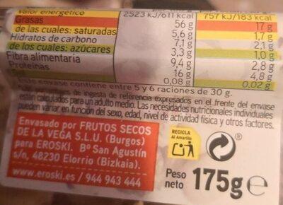 Mix crudo - Informations nutritionnelles