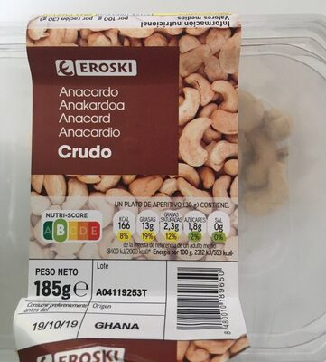 Anacardo crudo - Produit - es