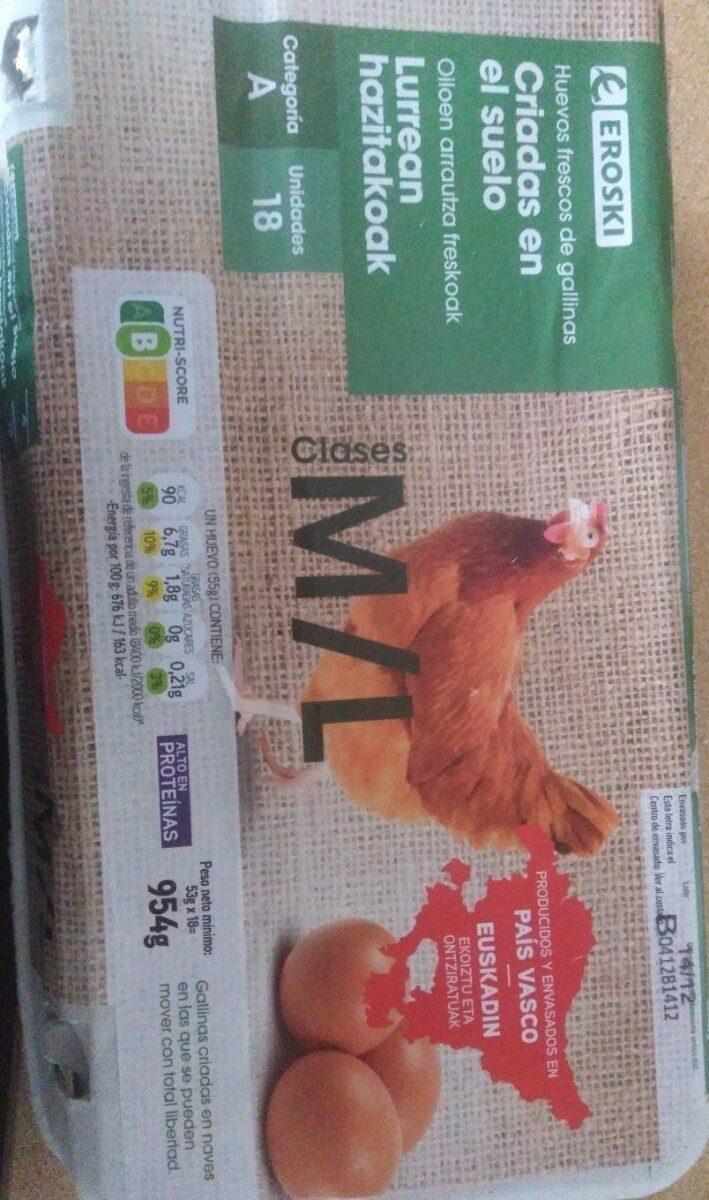 Huevos frescos criadas en el suelo - Produit - es