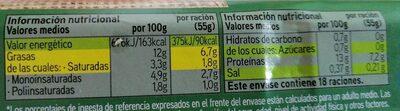 Huevos frescos criadas en el suelo - Informations nutritionnelles - es