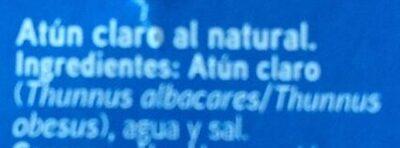 Atún al natural - Ingrédients - es