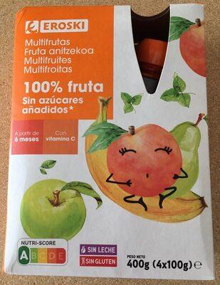 Multifrutas 100% fruta sin azúcar añadido