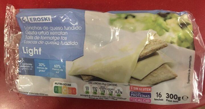 Lonchas de queso light - Producto