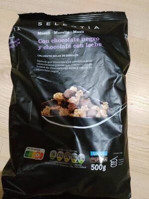 Seleqtia - Muesli con chocolate negro y chocolate con leche