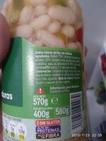 Alubias con verduras - Ingrédients - es